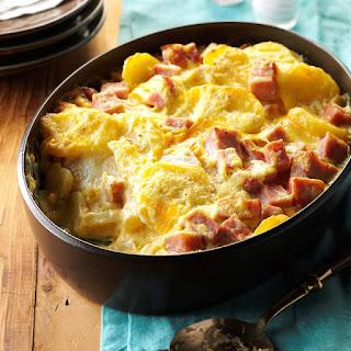 Cheesy Scalloped Potatoes & Ham.