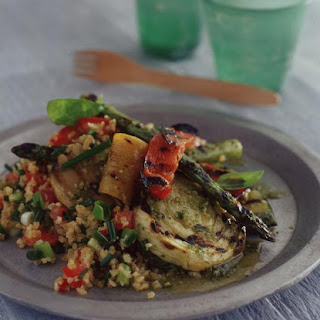 Cracked Wheat Salad with Grilled Vegetables.