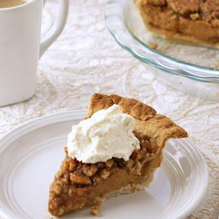 Pumpkin Pie with Walnut Crunch Topping