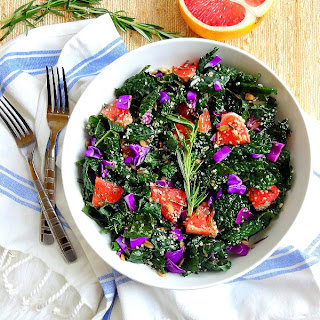 Rosemary Infused Grapefruit and Kale Salad
