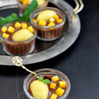 Blue Cheese Chocolate Mousse + Mango Sorbet