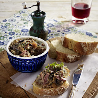 Duck Rillettes with Homemade Baguette.