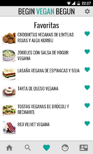 Begin Vegan Begun Recetas- screenshot thumbnail