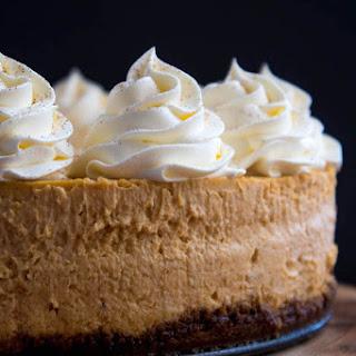 Pumpkin Cheesecake with Gingersnap Crust.