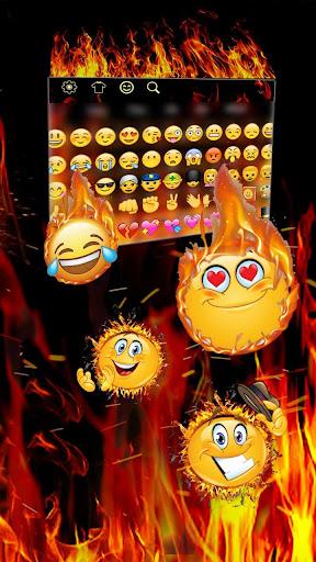 Fire Flames Keyboard 10001001 screenshots 3