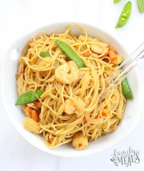 "Honey Garlic Shrimp Lo Mein ""When I made this the other night..."