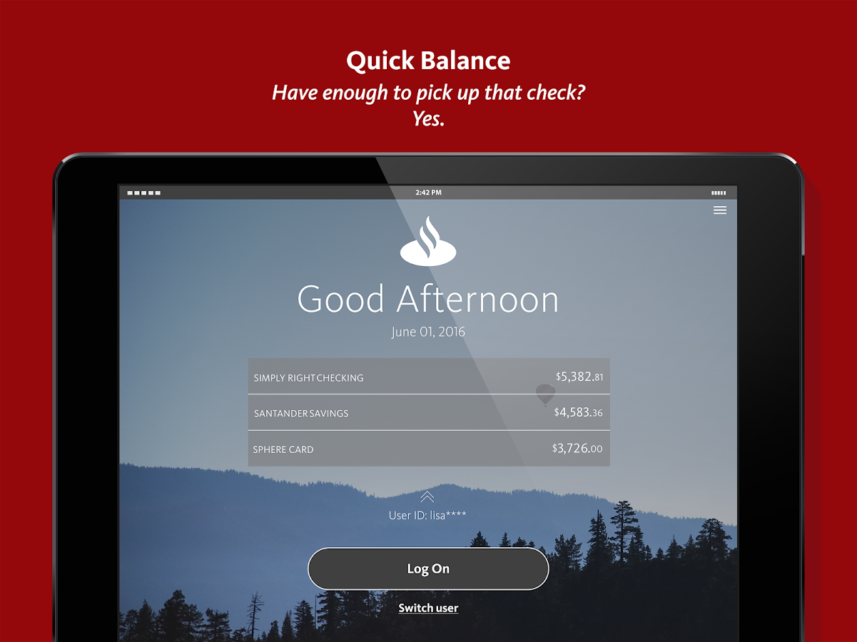 Personal Banking- screenshot