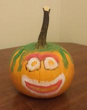 Photo: pumpkin Kaleya and Jihad painted