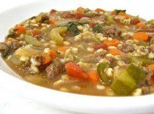All Day Beef Barley Soup Recipe