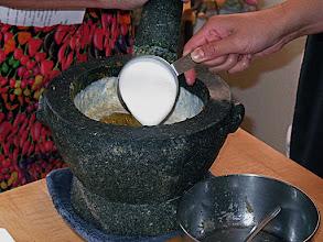 Photo: adding coconut milk