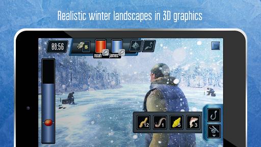 Ice fishing games for free. Fisherman simulator. screenshots 8