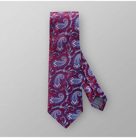 ETON röd jacquardvävd paisley slips
