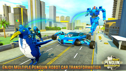 Penguin Robot Car Game: Robot Transforming Games screenshots 4