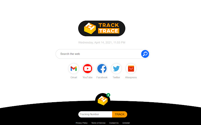 Track & Trace Parcels. Search Tab