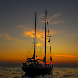 Kli Kli by Гојко Галић - Transportation Boats ( kli kli, sunset, sea, seascape, boat )
