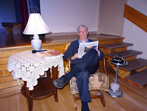 """Photo: """"Father"""" Bill Vandalfsen reads the New York Times 30Sep16"""