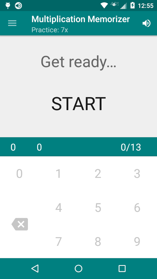 Multiplication Memorizer- screenshot