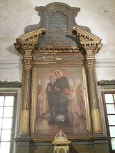 Photo: The side chapels of the Basilica of Sant'Apollinare Nuovo are more modern, not Byzantine, so the overall church has kind of a weird vibe. This painting in one of the side chapels makes the vibe still weirder.