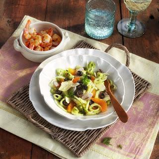 Orangen-Fenchel-Salat mit Garnelen