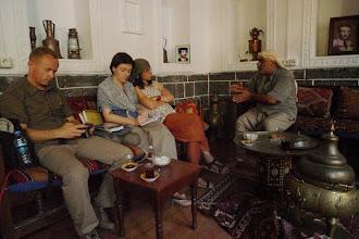 Photo: with Mamosta Hilmi, at the House of Dengbej, Diyarbakir, North Kurdistan (Turkey)