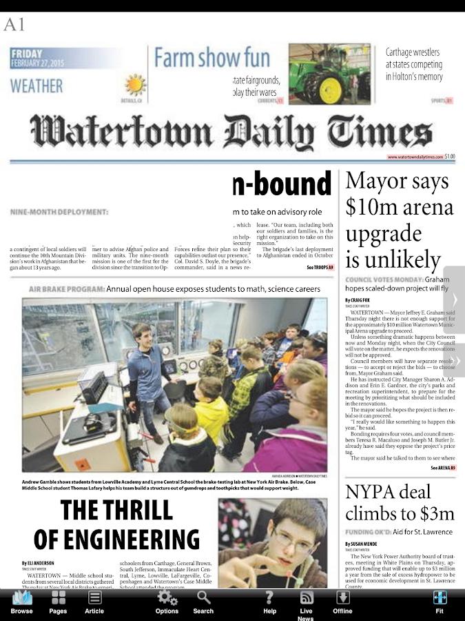 Watertown Times - screenshot