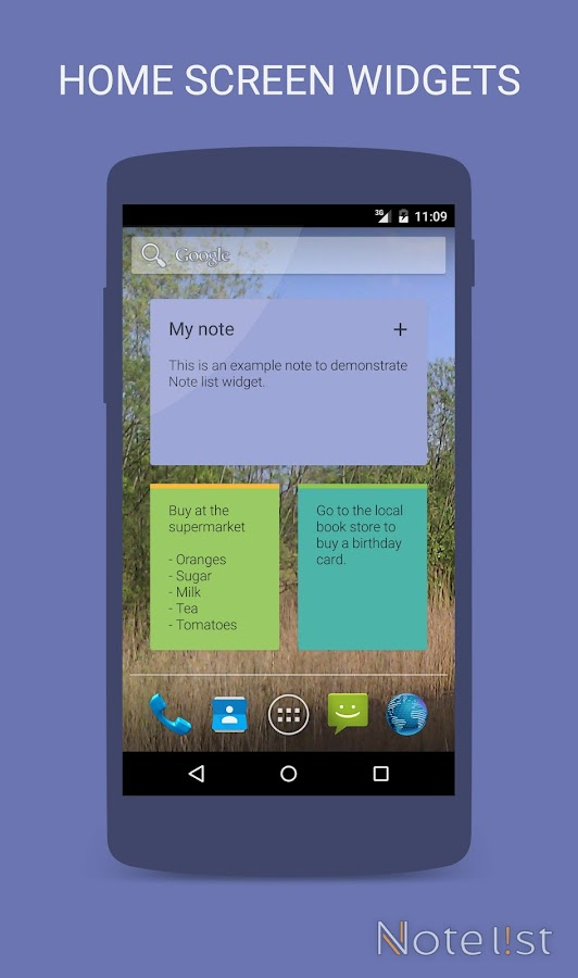 Note list - Notes & Reminders- screenshot