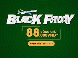 BLACK FRIDAY: vé máy bay chỉ 88K trong 3 Ngày bùng nổ với Bamboo Airways