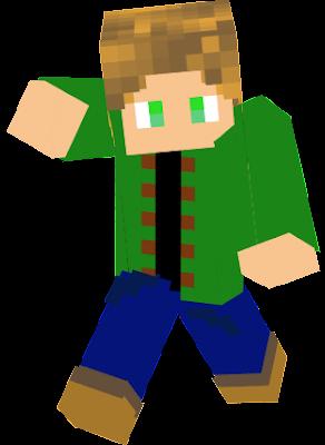 skin pour compte linkoza basique (tshirt noir sur chemise vert, pantalo bleu et chaussure beige