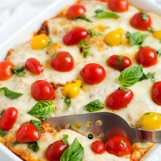 Italian Baked Quinoa with Fresh Tomato Topping.