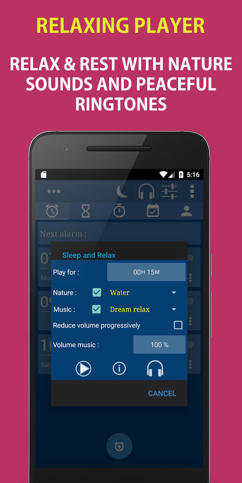 Alarm Clock & Timer & Stopwatch & Tasks & Contacts Screenshot 5