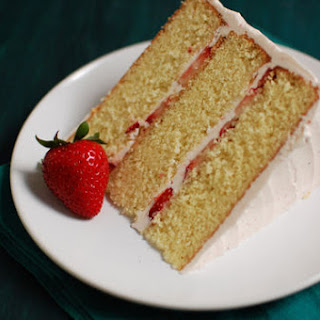 Strawberry Champagne Layer Cake