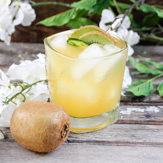 Spicy Tropical Bourbon Cocktail.