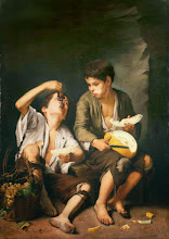 Photo: Bartolomé Esteban Murillo, Baggar Boys Eating Grapes and Melon,  Ca. 1645-46