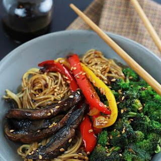 Spicy Ramen Mushroom Stir-Fry.