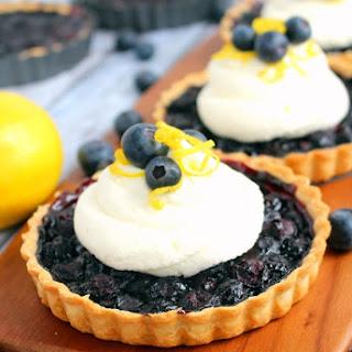 Blueberry Tarts with Lemon Mascarpone Cream