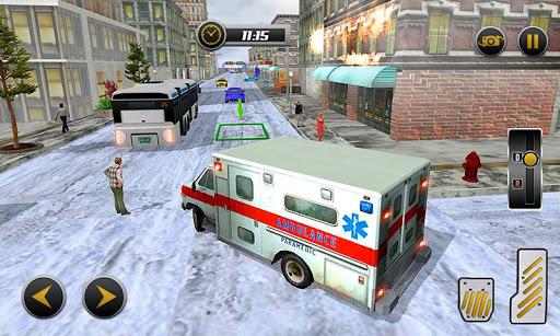 Code Triche Ambulance Rescue Driving 2017 mod apk screenshots 5