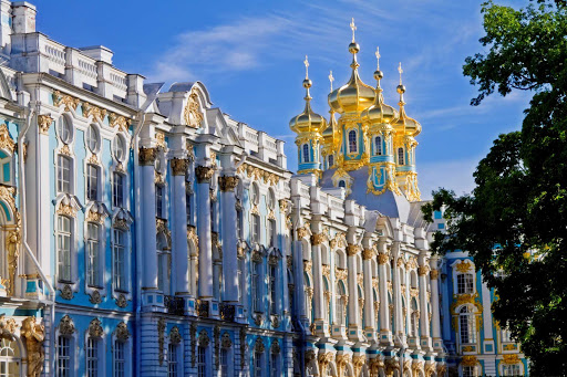 Catherine Palace in Pushkin, just south of St. Petersburg, Russia.