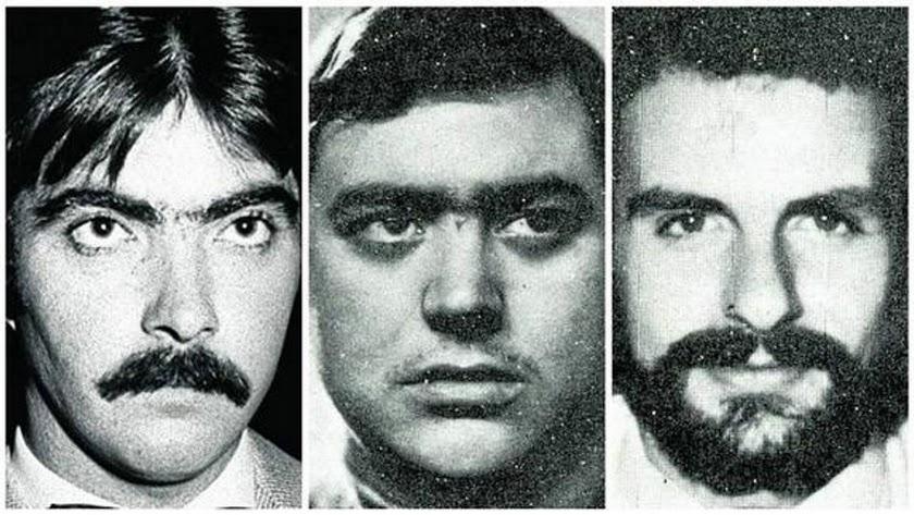 Las víctimas Juan Mañas, Luis Montero y Luis Cobo.