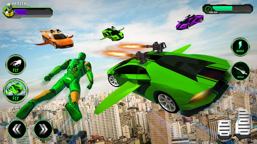 Flying Car Transform Robot Shooting Game Apk Data Unlocked