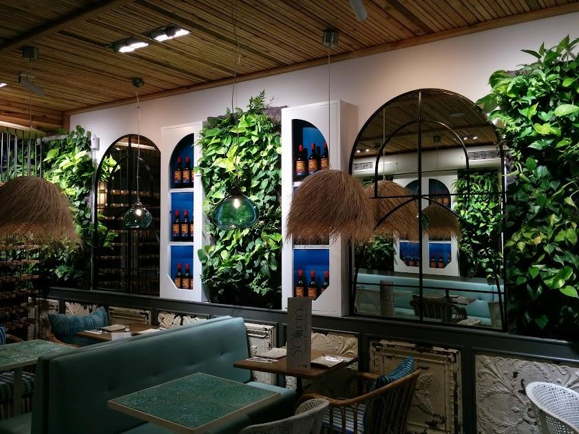 jardines verticales en los restaurantes
