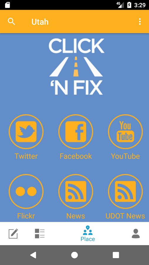 UDOT Click 'n Fix- screenshot