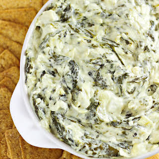 Slow Cooker Spinach and Artichoke Dip.