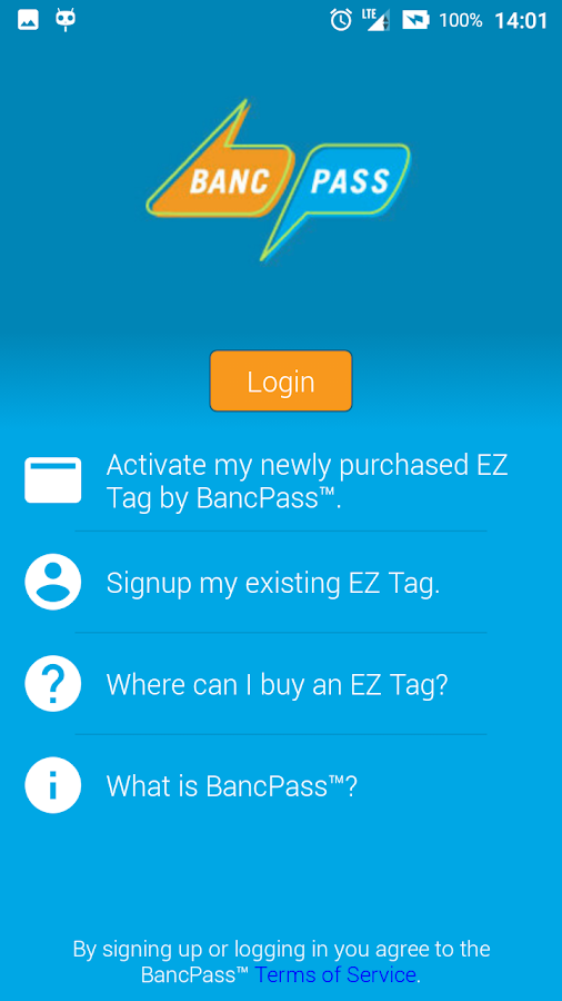 BancPass EZ Tag- screenshot