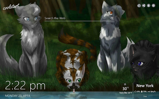 Warrior Cats HD Wallpapers Book New Tab Theme