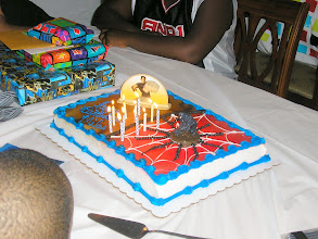 Photo: the spiderman cake