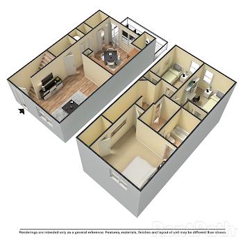 Go to C1 Townhome Floorplan page.