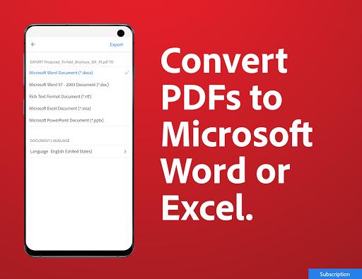 Adobe Acrobat Reader: PDF Viewer, Editor & Creator screenshot 7