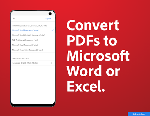 Adobe Acrobat Reader: PDF Viewer, Editor & Creator 20.7.0.14977 Screenshots 7