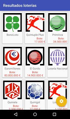 Resultados loterías - screenshot