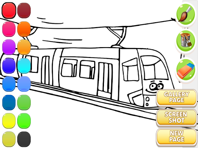 android Train Coloring Book Screenshot 13